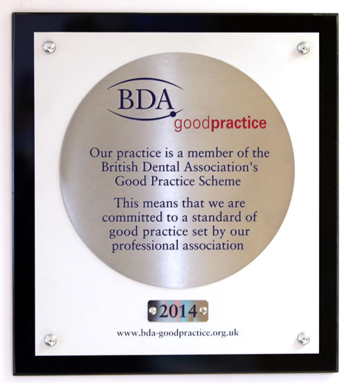 BDA Good Practice Award 2014